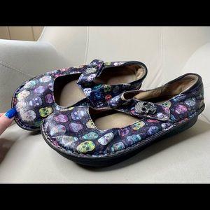 ALEGRIA Skulls Clogs Shoes W Strap EU 41 US 10.5